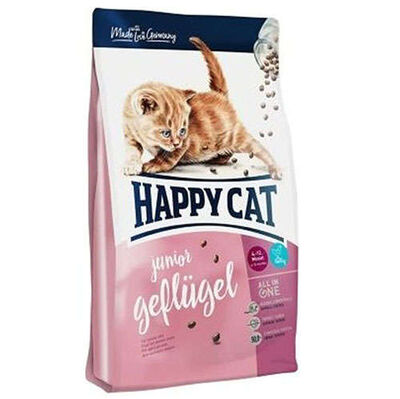 Happy Cat Junior Kümes H. ve Somon Yavru Kedi Maması 1,4 Kg+2 Adet Temizlik Mendili