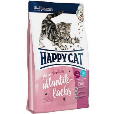 Happy Cat Junior Sterilised Somon Kısırlaştırılmış Yavru Kedi Maması 1,4 Kg + 2 Adet Temizlik Mendili