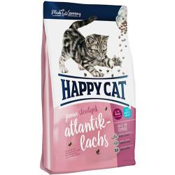 Happy Cat - Happy Cat Junior Sterilised Somon Kısırlaştırılmış Yavru Kedi Maması 4 Kg+Saklama Kabı