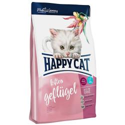 Happy Cat - Happy Cat Kitten Kümes Hayvanı ve Somonlu Yavru Kedi Maması 1,4 Kg + 2 Adet Temizlik Mendili