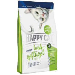 Happy Cat - Happy Cat Land Geflügel Organik Tavuklu Kedi Maması 4 Kg+Saklama Kabı