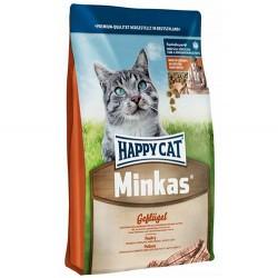 Happy Cat - Happy Cat Minkas Geflügel Tavuklu Kedi Maması 10 Kg+10 Adet Temizlik Mendili