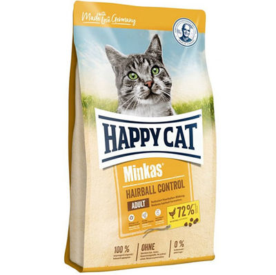 Happy Cat Minkas Hairball Control Kümes Hayvanlı Kedi Maması 1,5 Kg + 2 Adet Temizlik Mendili