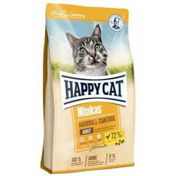 Happy Cat - Happy Cat Minkas Hairball Control Kümes Hayvanlı Kedi Maması 10 Kg + 10 Adet Temizlik Mendili