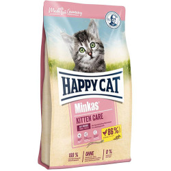Happy Cat - Happy Cat Minkas Kitten Yavru Kedi Maması 1,5 Kg + 2 Adet Temizlik Mendili