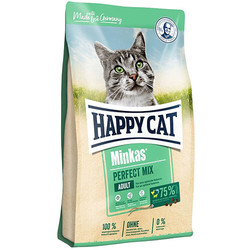 Happy Cat - Happy Cat Minkas Perfect Mix Tavuk Kuzulu Kedi Maması 3+1 Kg (Toplam 4 Kg)