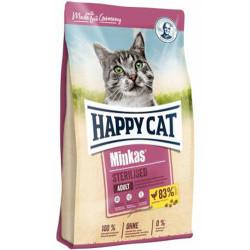 Happy Cat - Happy Cat Minkas Sterilised Kısırlaştırılmış Kedi Maması 10 Kg+10 Adet Temizlik Mendili