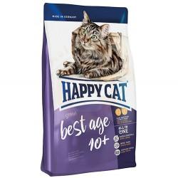 Happy Cat - Happy Cat Senior 10 Yaş ve Üzeri Yaşlı Kedi Maması 1,4 Kg + 2 Adet Temizlik Mendili