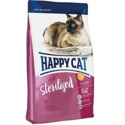 Happy Cat - Happy Cat Sterilised Atlantic Somonlu Kısırlaştırılmış Kedi Maması 1,4 Kg + 2 Adet Temizlik Mendili