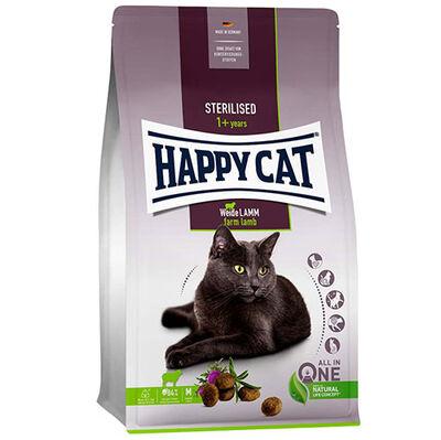Happy Cat Sterilised Kuzu Kısırlaştırılmış Kedi Maması 3 + 1 Kg