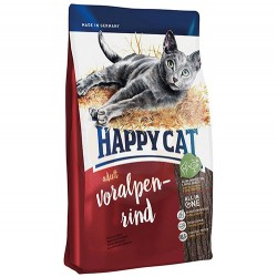 Happy Cat - Happy Cat Voralpen Rind Biftekli Kedi Maması 1,4 Kg+2 Adet Temizlik Mendili