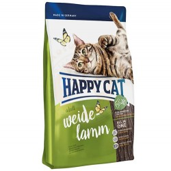 Happy Cat - Happy Cat Weide Lamm Kuzu Etli Kedi Maması 1,4 Kg+2 Adet Temizlik Mendili