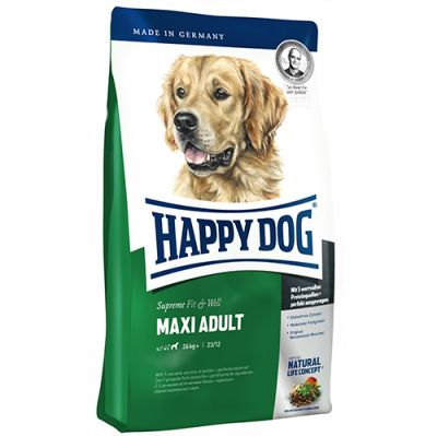 Happy Dog Fit & Well Maxi Büyük Irk Köpek Maması 3 + 1 Kg + 5 Adet Temizlik Mendili