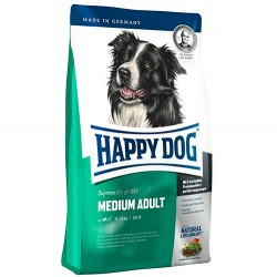 Happy Dog - Happy Dog Fit & Well Medium Orta Irk Köpek Maması 3 + 1 Kg + 5 Adet Temizlik Mendili