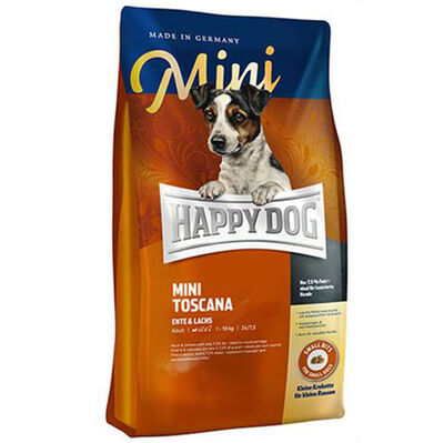 Happy Dog Mini Toscana Küçük Irk Tahılsız Köpek Maması 4 Kg + 5 Adet Temizlik Mendili