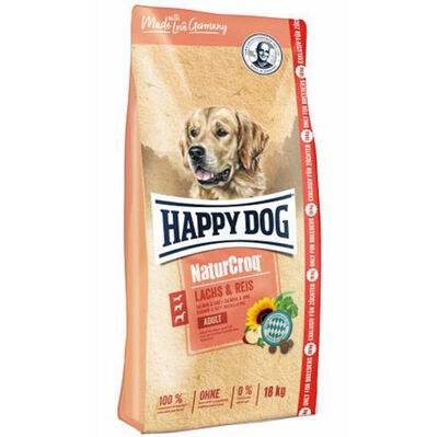 Happy Dog NaturCroq Somon Etli Köpek Maması 15 Kg + 3 Kg (Toplam 18 Kg)