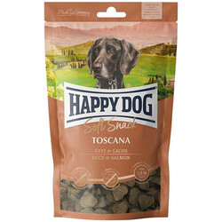 Happy Dog - Happy Dog Soft Snack Toscana Ördek ve Somon Köpek Ödülü 100 Gr