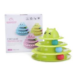 Diğer / Other - Harry Yaya No: 0180 Circular Turntable Cat Toy 3 Katlı Kedi Oyuncağı