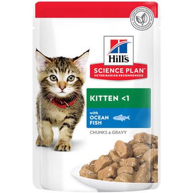 Hills Chunks in Gravy Kitten Balıklı Yavru Kedi Yaş Maması 85 Gr