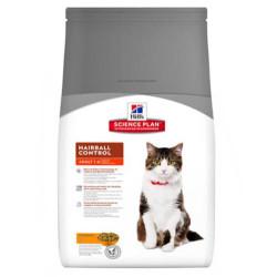 Hills - Hills Hairball Control Tavuklu Kedi Maması 1,5 Kg+5 Adet Temizlik Mendili