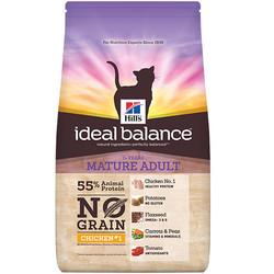Hills - Hills Ideal Balance Tavuk Patates Yaşlı Tahılsız Kedi Maması 1,5 Kg+5 Adet Temizlik Mendili
