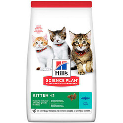 Hills - Hills Kitten Ton Balıklı Yavru Kedi Maması 7 Kg + 5 Adet Temizlik Mendili