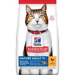 Hills - Hills Mature Tavuk Etli Yaşlı Kedi Maması 3 Kg + 2 Adet Temizlik Mendili