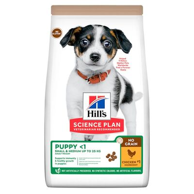 Hills No Grain Puppy Tavuk Etli Küçük ve Orta Irk Tahılsız Yavru Köpek Maması 12 Kg