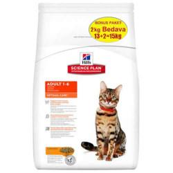 Hills - Hills Optimal Care Tavuklu Kedi Maması 12+3 Kg (Toplam 15 Kg)