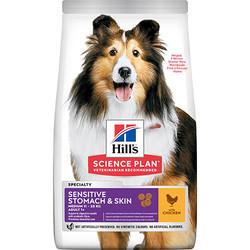 Hills - Hills Sensitive Stomach Skin Köpek Maması 14 Kg+10 Adet Temizlik Mendili