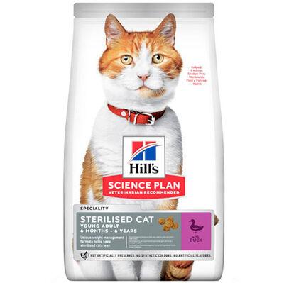 Hills Sterilised Kısırlaştırılmış Ördekli Kedi Maması 10 Kg + 10 Adet Temizlik Mendili