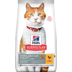Hills - Hills Sterilised Kısırlaştırılmış Tavuklu Kedi Maması 10 Kg + 10 Adet Temizlik Mendili