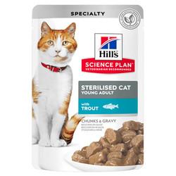 Hills - Hills Tender Chunks In Gravy Alabalıklı Kısırlaştırılmış Kedi Yaş Maması 85 Gr