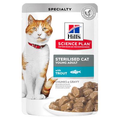 Hills Tender Chunks In Gravy Alabalıklı Kısırlaştırılmış Kedi Yaş Maması 85 Gr