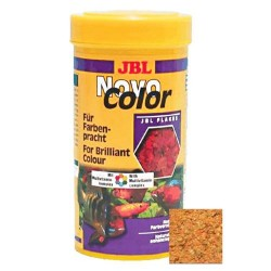JBL - JBL Novo Color Fish Flake Food Balık Renkli Pul Yemi 100 ML (18 Gr)
