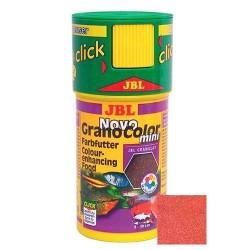 JBL - JBL Novo Grano Color Mini Tropical Fish Food Renkli Mini Yavru Büyütücü Granül Balık Yemi 100 ML (38 Gr.)