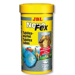 JBL - JBL Novofex Kurutulmuş Tubifex (Tatarcık Larvası) Küpleri Balık Yemi 100 ML (10 Gr)