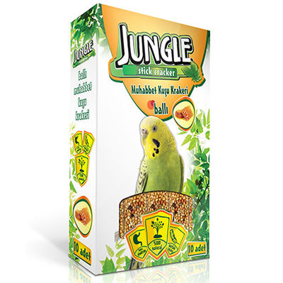 Jungle Ballı Muhabbet Kuşu Krakeri (10'lu Paket) - 10 x 30 Gr