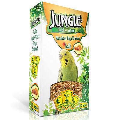 Jungle Ballı Muhabbet Kuşu Krakeri (10lu Paket)-10x30 Gr