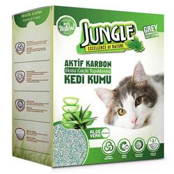 Jungle - Jungle Karbonlu Grey Aloe Vera Kedi Kumu 6 Lt