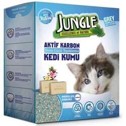Jungle - Jungle Karbonlu Grey Marsilya Sabunlu Kedi Kumu 6 Lt