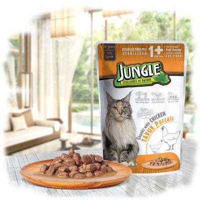 Jungle Pouch Sterilised Tavuklu Yaş Kısırlaştırılmış Kedi Maması 100 Gr