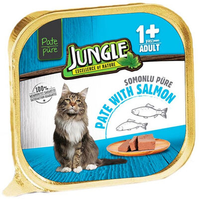 Jungle Somon Balıklı Ezme / Pate Kedi Yaş Maması 100 Gr