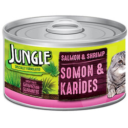 Jungle - Jungle Somon ve Karidesli Kedi Konservesi 85 Gr