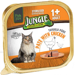 Jungle - Jungle Sterilised Tavuk Etli Ezme / Pate Kısırlaştırılmış Kedi Yaş Maması 100 Gr