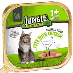 Jungle - Jungle Tavuk Etli Ezme / Pate Kedi Yaş Maması 100 Gr