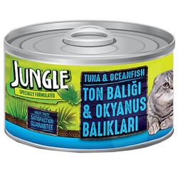 Jungle - Jungle Ton ve Okyanus Balıklı Kedi Konservesi 85 Gr