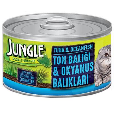 Jungle Ton ve Okyanus Balıklı Kedi Konservesi 85 Gr
