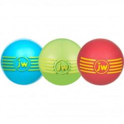 Jw - JW 43031 iSqueak Ball Renkli Top Kauçuk Sesli Köpek Oyuncağı Medium