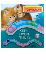 Diğer / Other - Kardelen Kedi Oyun Tüneli Kedi Oyuncağı Üçlü